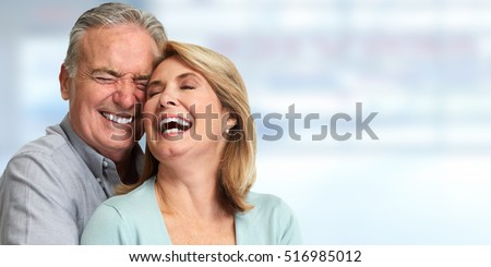 Senior couple smiling. Royalty-Free Stock Photo #516985012