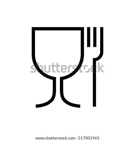 food safe icon. Shipping mark, Cargo signs Royalty-Free Stock Photo #517001965