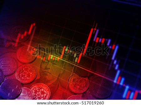 Financial graphs and Currency #517019260
