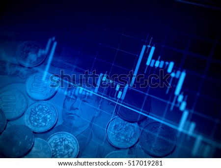 Financial graphs and Currency #517019281