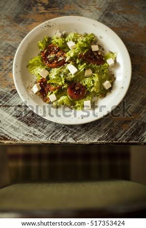 Fresh Greek salad #517353424