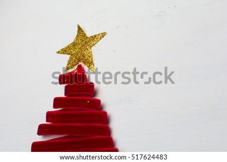 christmas tree made from ribbon #517624483