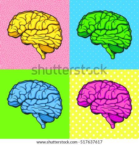 Brain pop-art