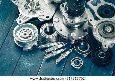 Various car parts Royalty-Free Stock Photo #517813702