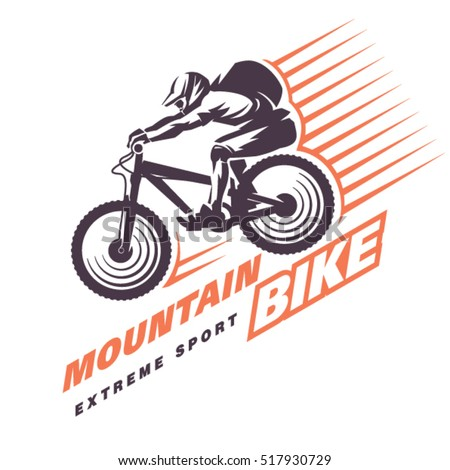 Mountain bike trials. Sport emblem