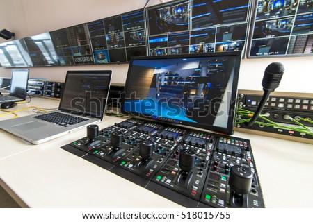 TV live broadcast  Royalty-Free Stock Photo #518015755