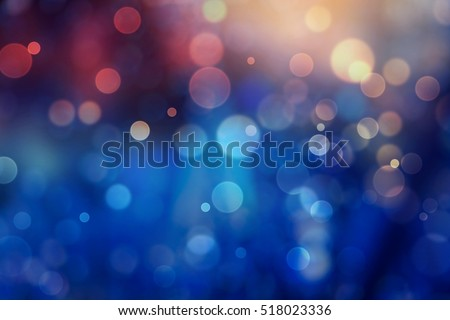 Blue bokeh abstract background.