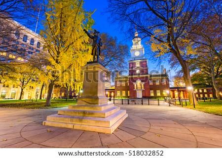 Independence Hall in Philadelphia, Pennsylvania, USA. #518032852