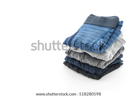 men underwear isolated on white background #518280598