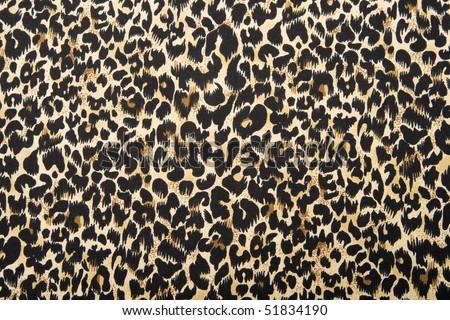 Silk leopard print fabric.