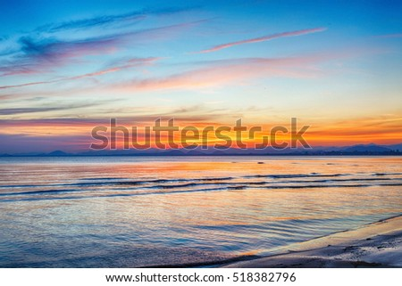 Beach on twilight time in Thailand Asia #518382796