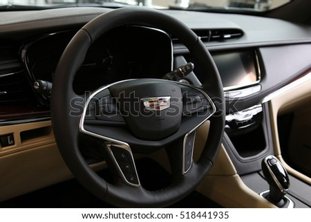 MINSK, BELARUS NOVEMBER 15, 2016: New Cadillac XT5 at the test drive event for automotive journalists from Minsk #518441935