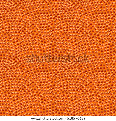 Basketball seamless texture with bumps. Basketball pattern, vector illustration