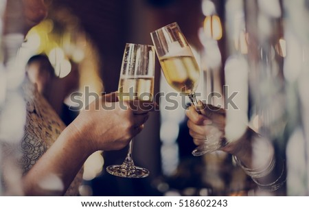 Women Friendship Party Celebration Drinks Cheers Happiness Concept Royalty-Free Stock Photo #518602243