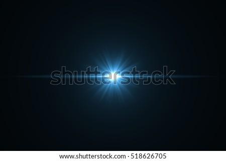 Lens Flare ,Sun Flare on black background object design. #518626705