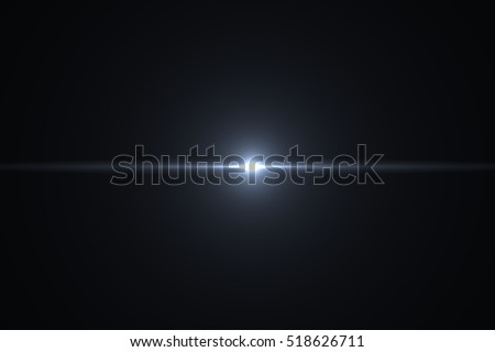 Lens Flare ,Sun Flare on black background object design. Royalty-Free Stock Photo #518626711