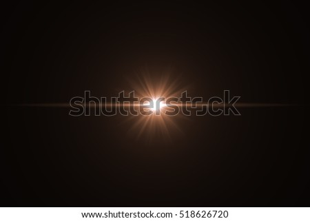 Lens Flare ,Sun Flare on black background object design. #518626720