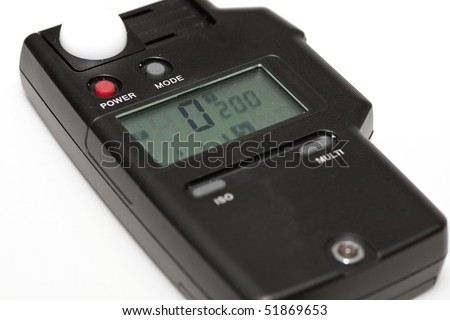 A digital light meter for photography use