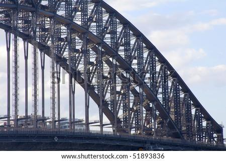 A section of the Sydney harbor bridge Australia #51893836