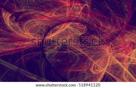 Abstract fractal background. Design element for brochure, advertisements, flyer, web and other graphic designer works. Raster clip art.