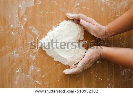 Chef preparing dough - cooking process #518952382