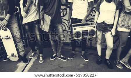 Teenagers Lifestyle Casual Culture Youth Style Concept Royalty-Free Stock Photo #519050227