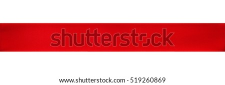 Red satin ribbon isolated on white #519260869