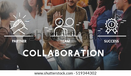Business Collaboration Teamwork Corporation Concept Royalty-Free Stock Photo #519344302