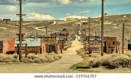 The ghost town of Bodie - California Royalty-Free Stock Photo #519356707