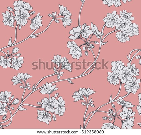 Floral background. Seamless vector pattern. #519358060