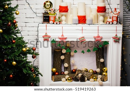 Christmas Decoration, Home interior, Winter Holiday, New Year accessories, Photo studio Decoration, Christmas room
