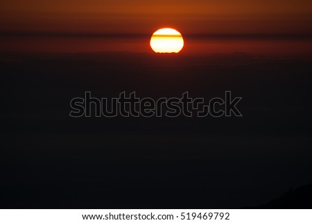 Sunrise of the Thai national park #519469792