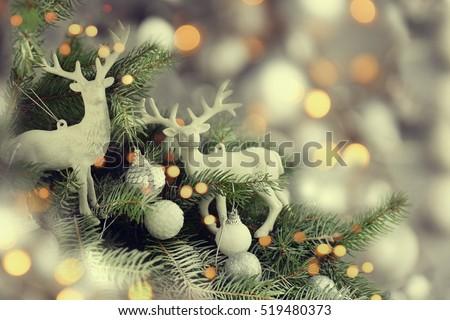 Beautiful decorated Christmas tree #519480373