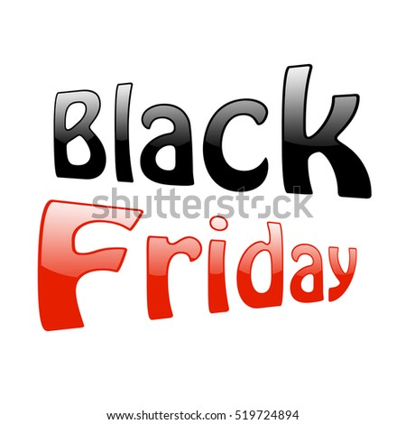 Text Black Friday. Isolated on white background #519724894