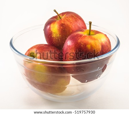 apples in glass bowl #519757930