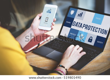 Data Protection Security Privacy Concept Royalty-Free Stock Photo #519801490