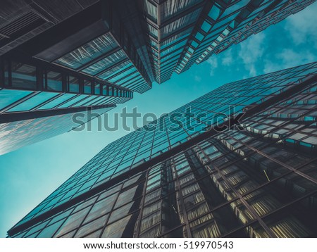 Skyscraper Buildings and Sky View Royalty-Free Stock Photo #519970543