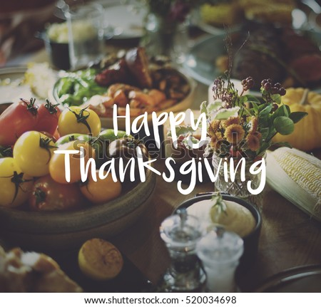 Thaksgiving Blessing Celebrating Grateful Meal Concept