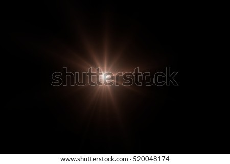 Sun flare, Star flare in the black background. #520048174