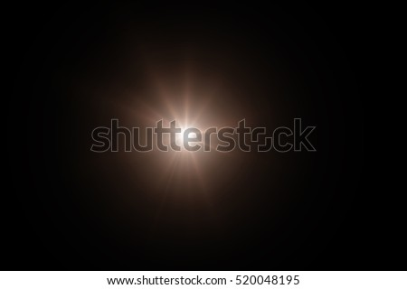 Sun flare, Star flare in the black background. #520048195