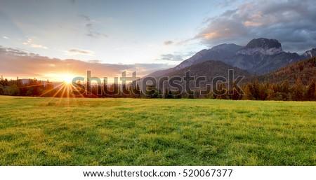 Sunrise in mountains landscape, Slovakia, Tatranska Javorina #520067377