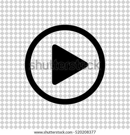 Play button  - black vector icon #520208377