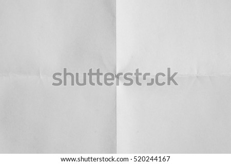 White sheet of paper folded texture Royalty-Free Stock Photo #520244167