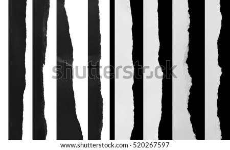 Piece of torn paper, space for copy Royalty-Free Stock Photo #520267597