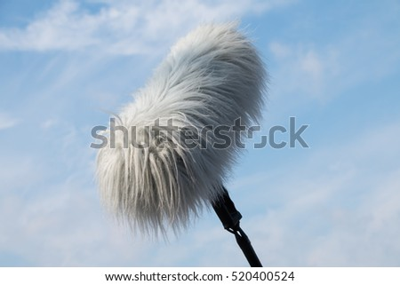 Sound recorder microphone, boom mic on monopod stick