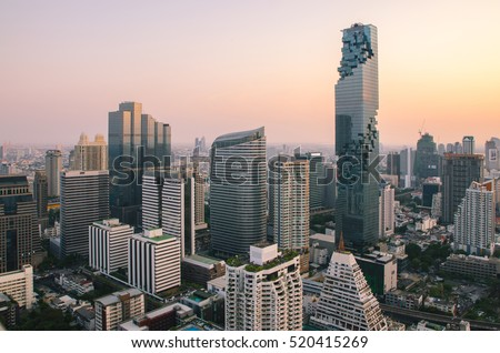 The modern buildings of the city skyscrapers #520415269