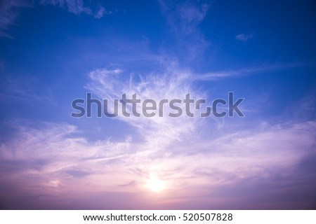 sunset sky with clouds #520507828