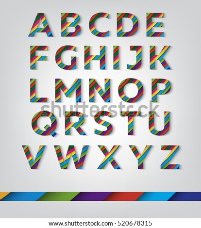 Colorful letters with diagonal pattern #520678315