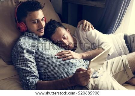 Gay Couple Love Home Concept #520685908