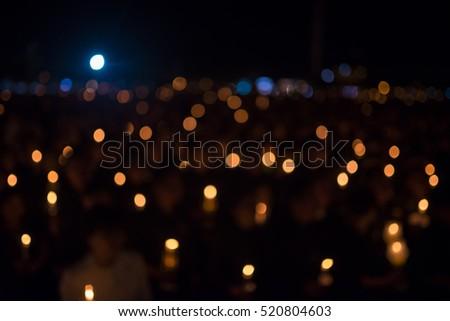 Bokeh of light candle #520804603